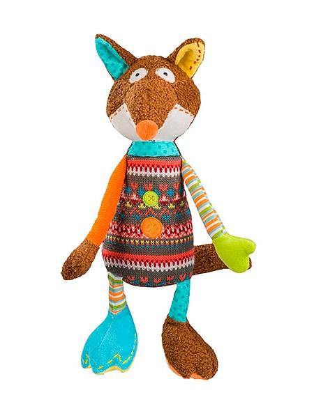 Plyšová hračka s hrkálkou Baby Ono Liška hnedá