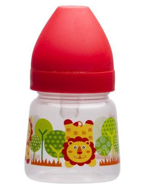 Fľaša so širokým hrdlom Akuku 125 ml červená