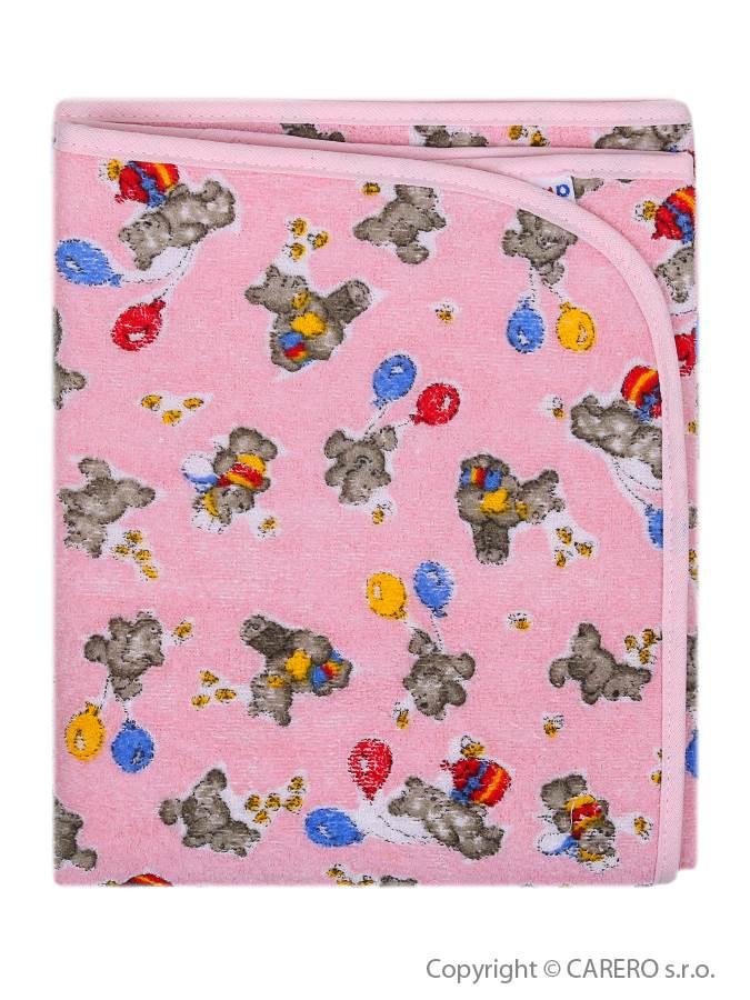 Prebaľovacia podložka Akuku 56x46 ružová s medvedíkmi
