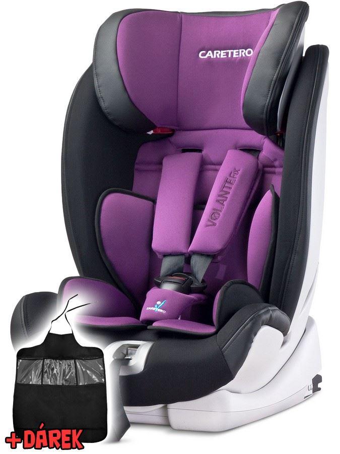 Autosedačka CARETERO Volante Fix purple 2016 + darček