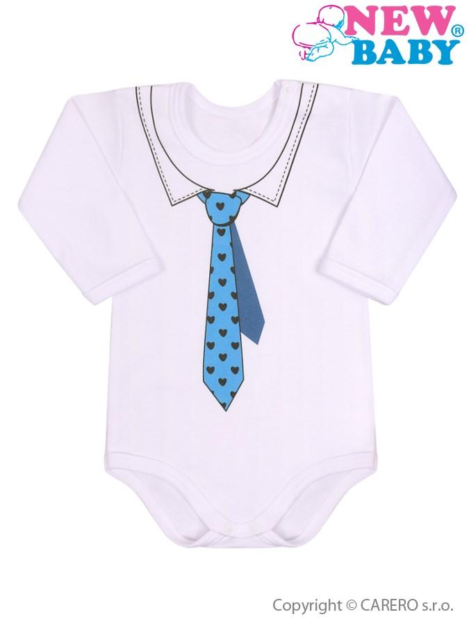 Dojčenské body s kravatou New Baby