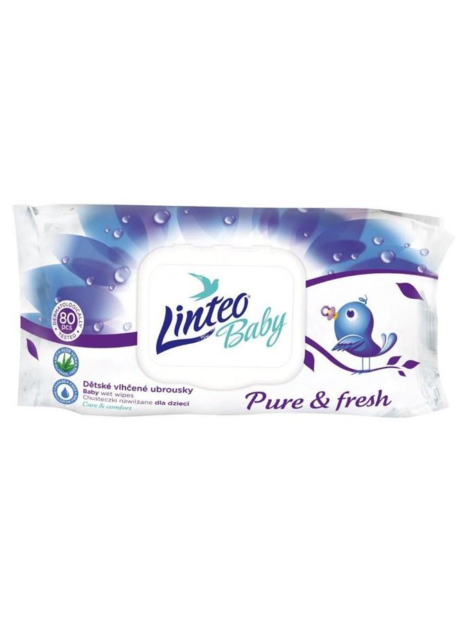 Vlhčené obrúsky Linteo Baby 80 ks Pure and fresh
