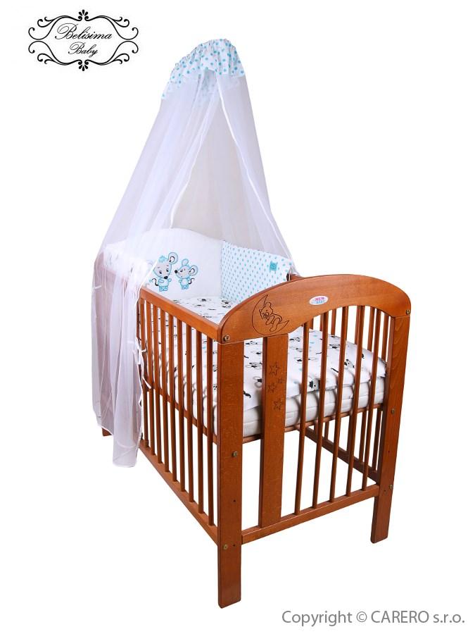 6-dielne posteľné obliečky Belisima Malé Myšky 90/120 modré