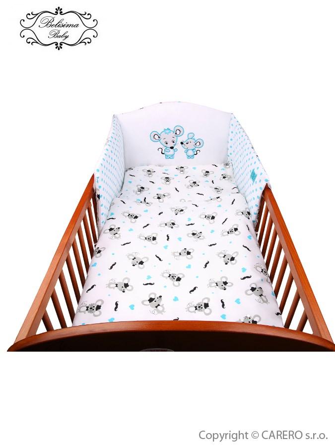 3-dielne posteľné obliečky Belisima Malé Myšky 100/135 modré