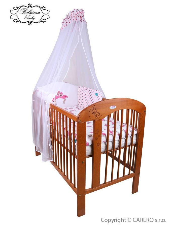 5-dielne posteľné obliečky Belisima Plameniák 100/135 ružové