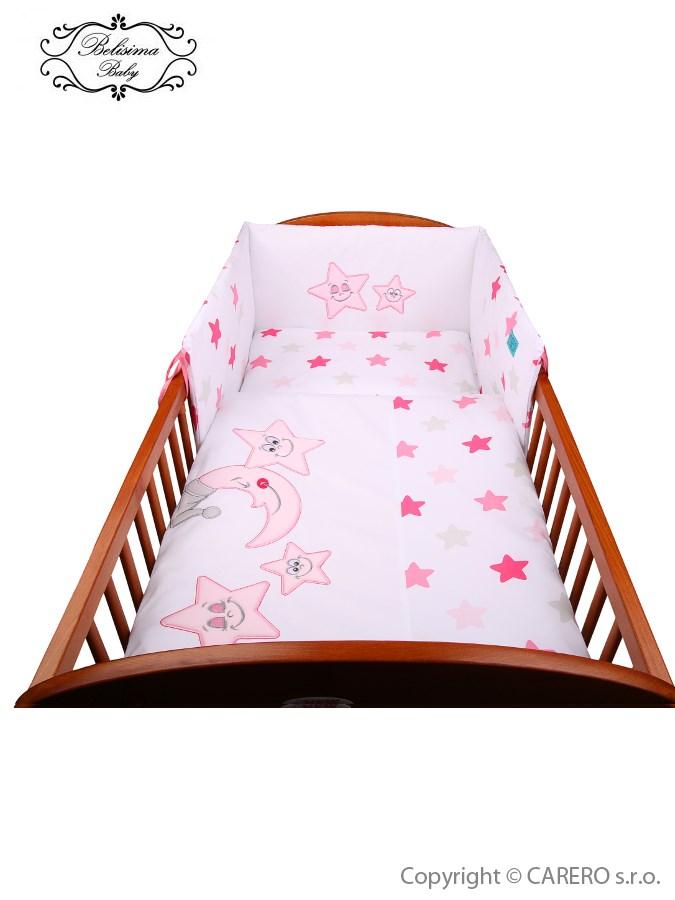 2-dielne posteľné obliečky Belisima Veselé Hviezdičky 90/120 ružové