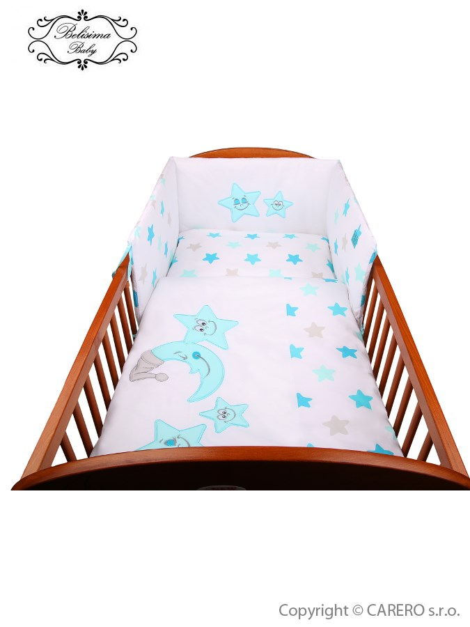 3-dielne posteľné obliečky Belisima Veselé Hviezdičky 90/120 modré