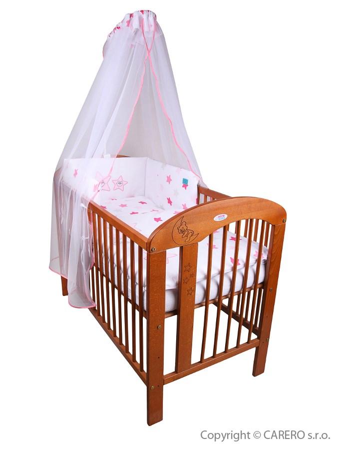 6-dielne posteľné obliečky Belisima Veselé Hviezdičky 100/135 ružové