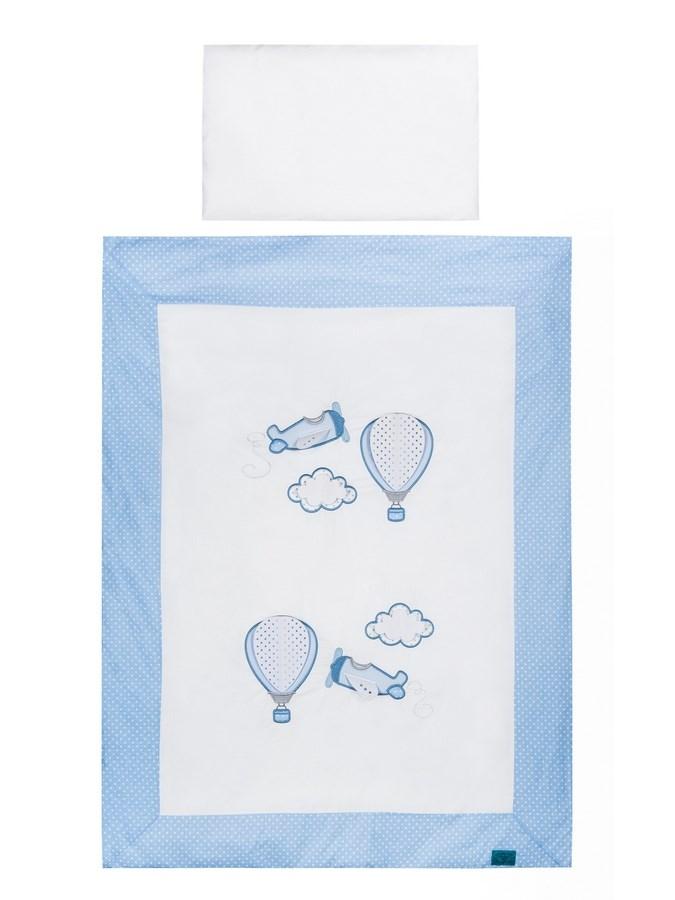 3-dielne posteľné obliečky Belisima Lietadla 90/120 modré