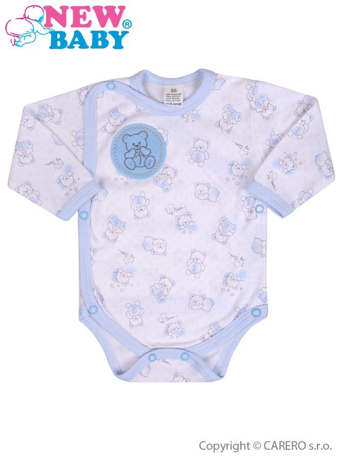 Dojčenské body celorozopínacie New Baby Roztomilý Medvedík modré