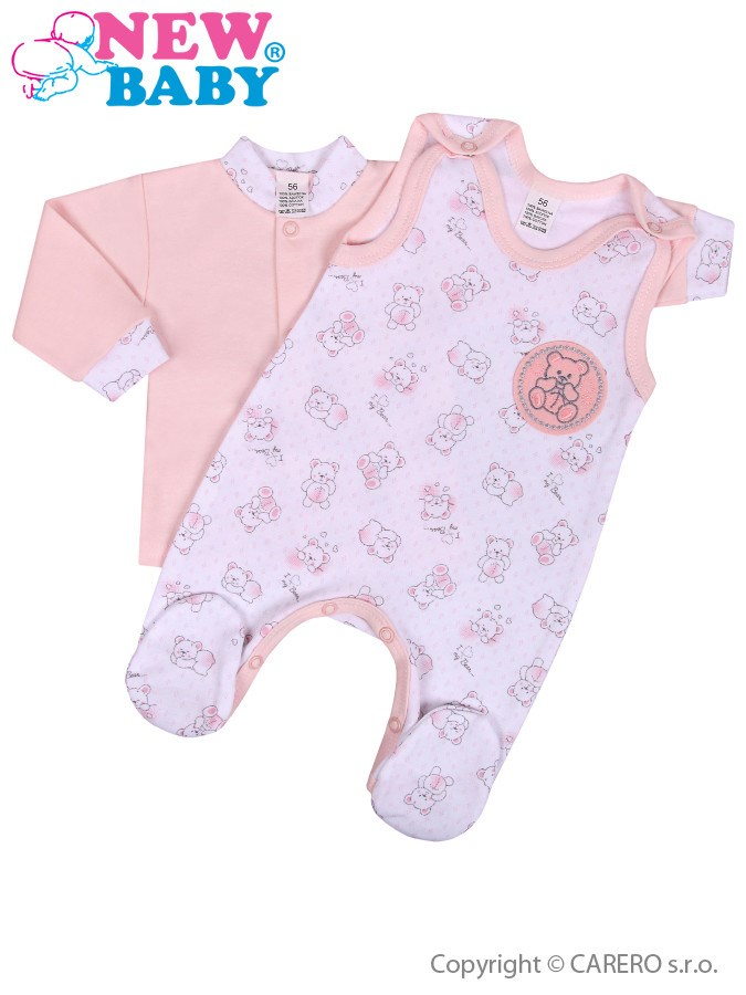 2-dielna dojčenská súprava New Baby Roztomilý Medvedík ružová