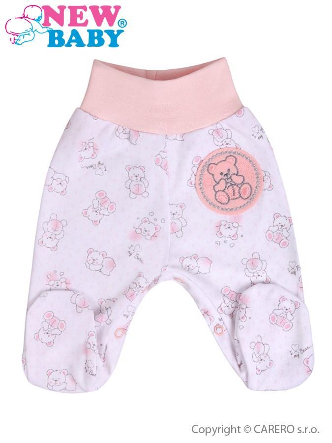 Dojčenské polodupačky New Baby Roztomilý Medvedík ružové
