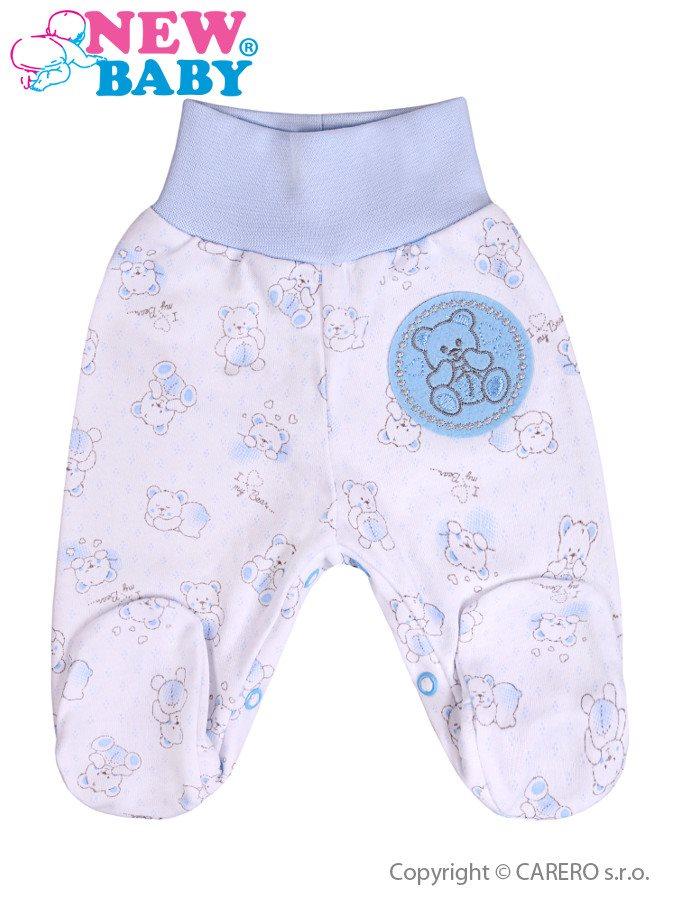 Dojčenské polodupačky New Baby Roztomilý Medvedík modré