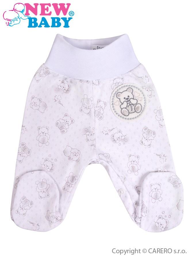 Dojčenské polodupačky New Baby Roztomilý Medvedík biele