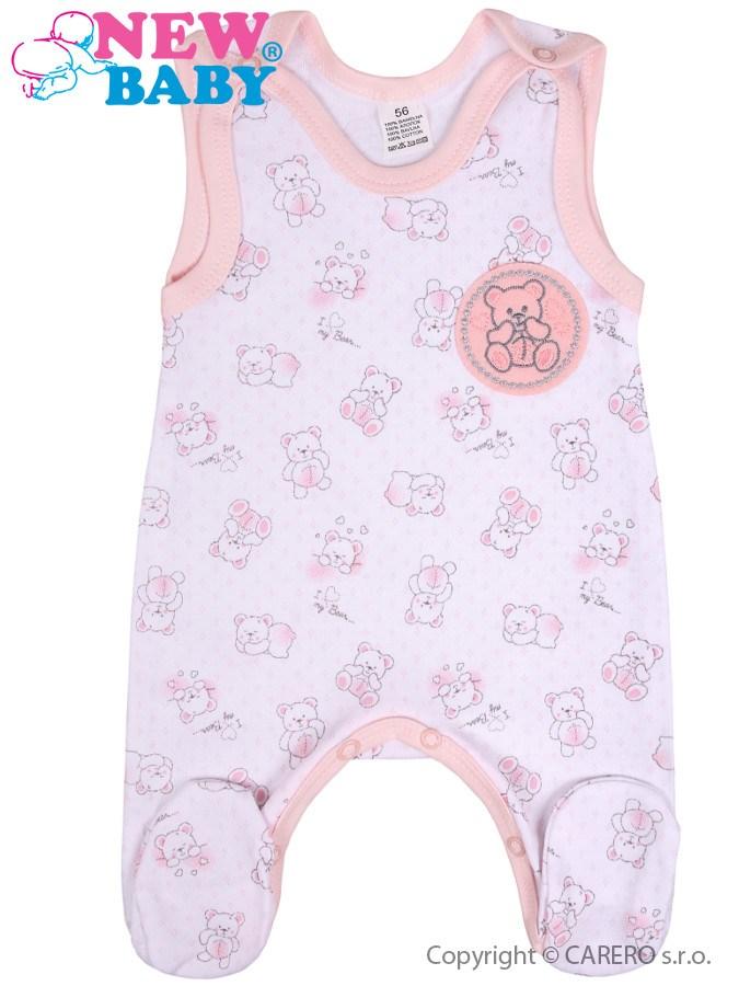 Dojčenské dupačky New Baby Roztomilý Medvedík ružové