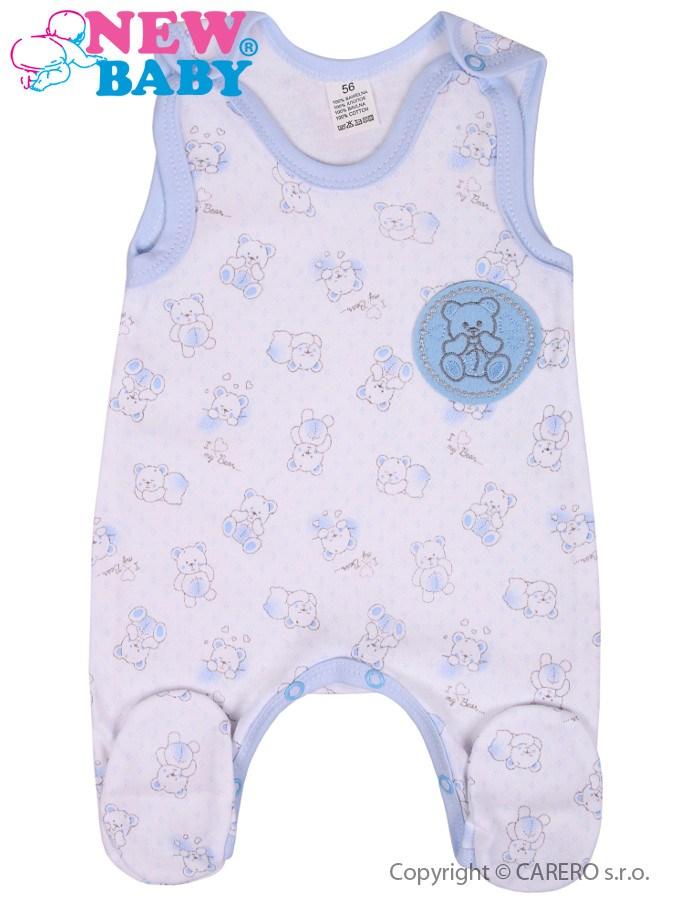 Dojčenské dupačky New Baby Roztomilý Medvedík modré