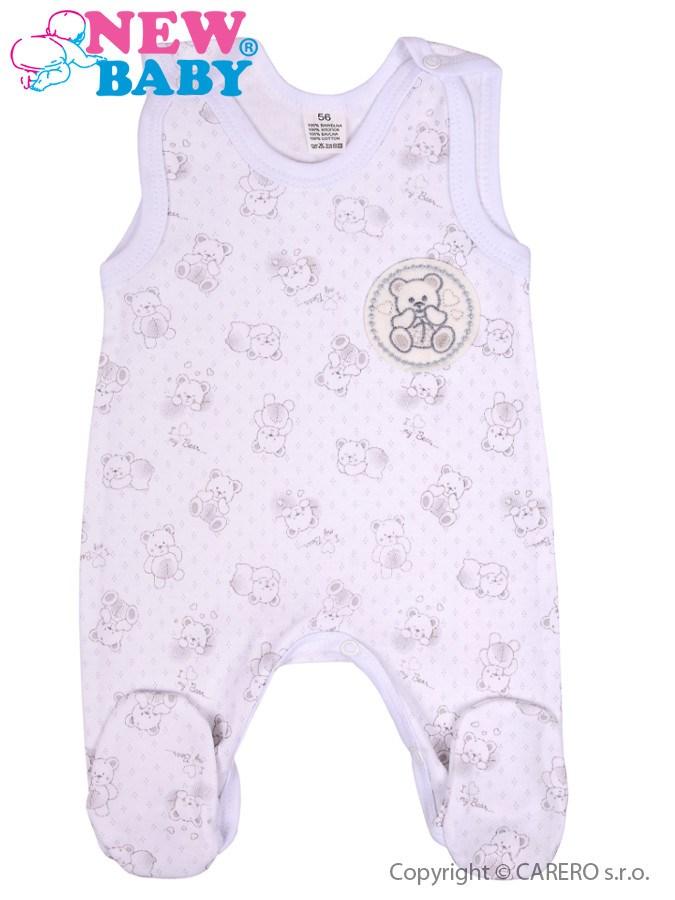 Dojčenské dupačky New Baby Roztomilý Medvedík biele