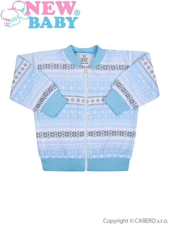 Dojčenská bavlnená bundička New Baby Etnik modrá