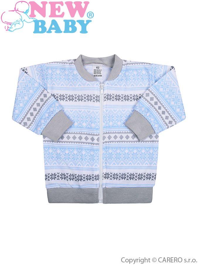 Dojčenská bavlnená bundička New Baby Etnik sivo-modrá