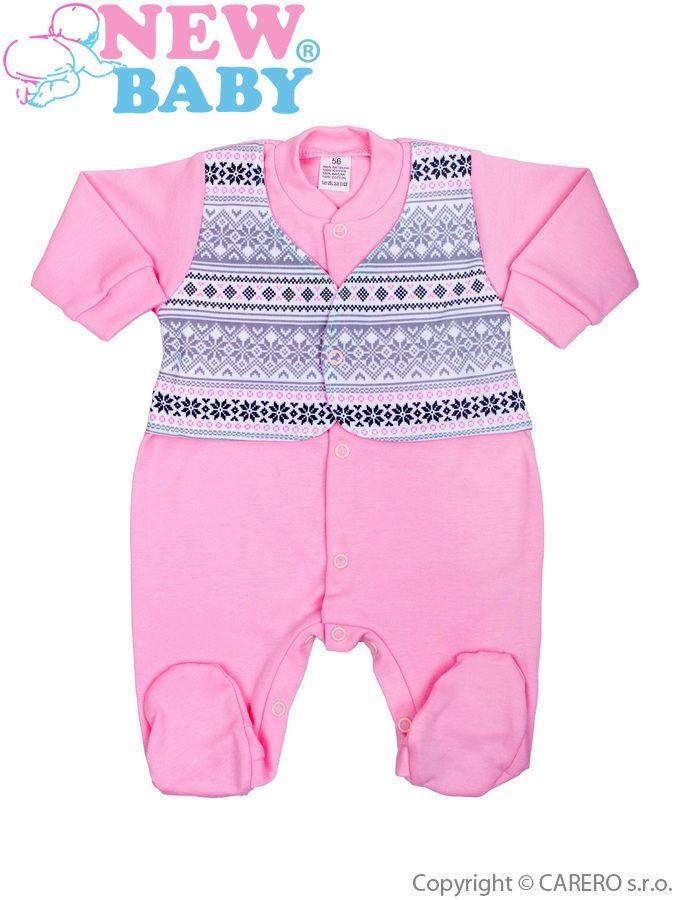 Dojčenský overal New Baby Etnik ružový