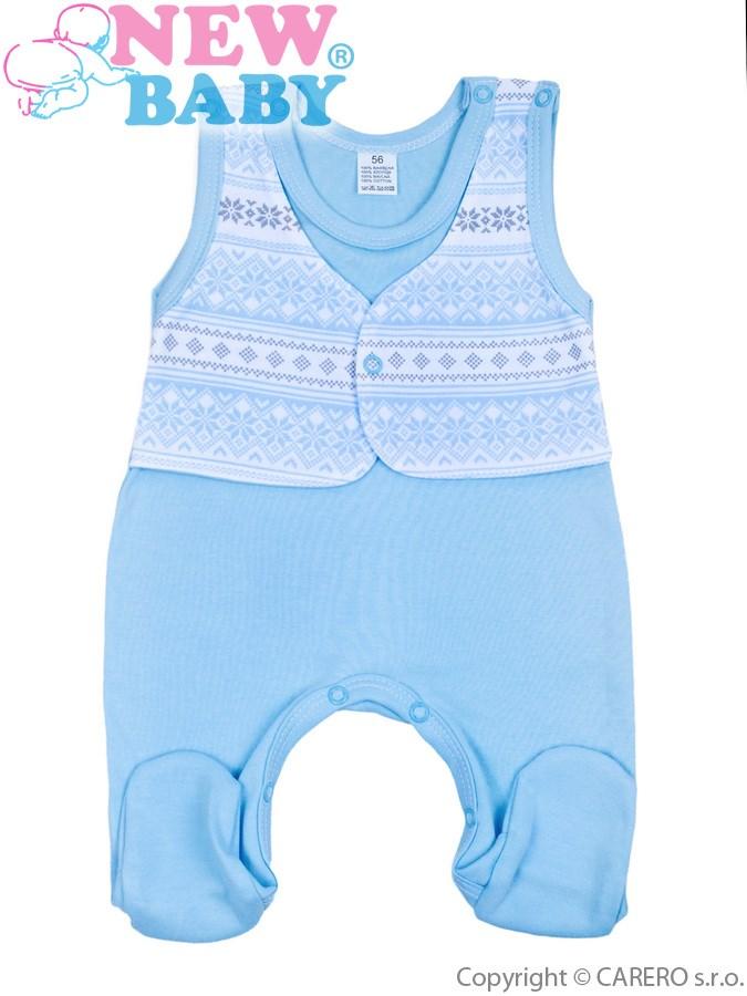Dojčenské dupačky New Baby Etnik modré