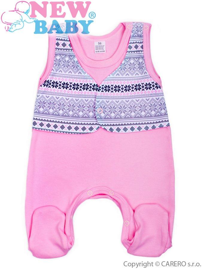 Dojčenské dupačky New Baby Etnik ružové