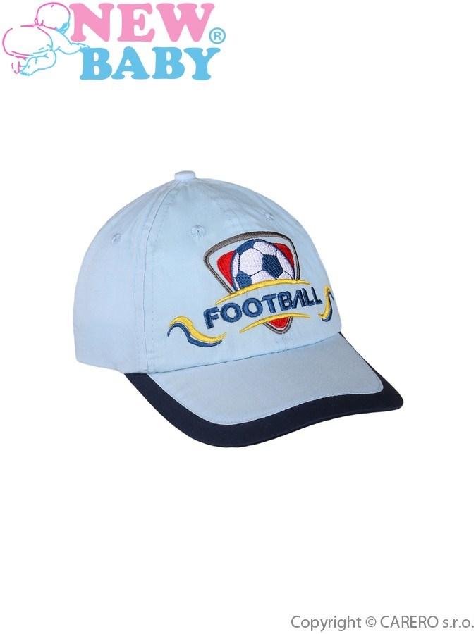 Letná detská šiltovka New Baby Football 2 svetlo modrá