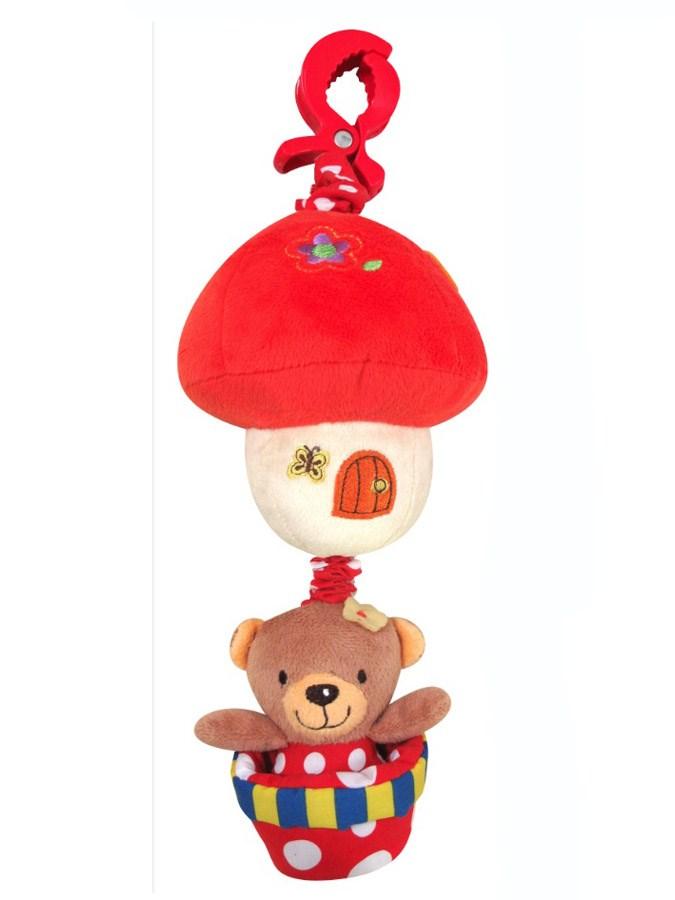 Detská plyšová hračka Baby Mix Medvedík červený