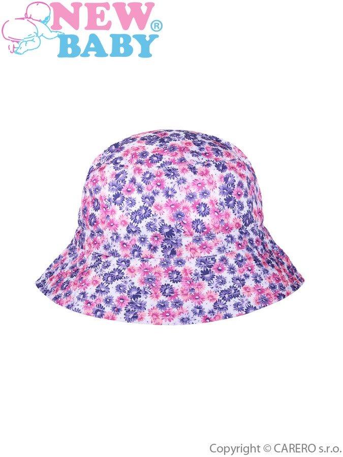 Letný detský klobúčik New Baby Kytička fialový