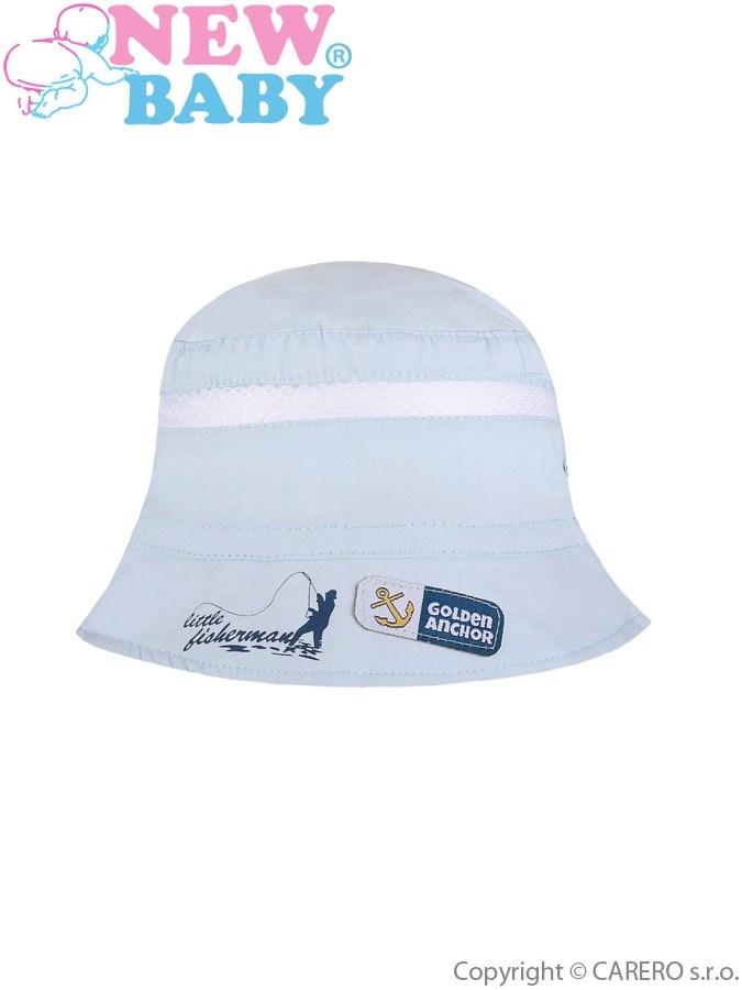 Letný detský klobúčik New Baby Little Fisherman svetlo modrý