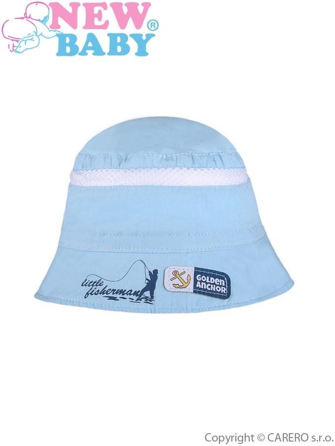 Letný detský klobúčik New Baby Little Fisherman modrý