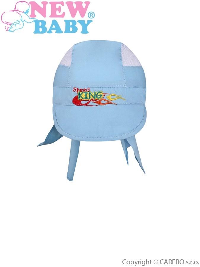 Letná detská čiapočka-šatka New Baby Speed King modrá