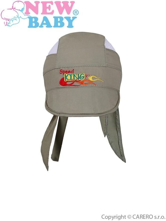 Letná detská čiapočka-šatka New Baby Speed King zelená