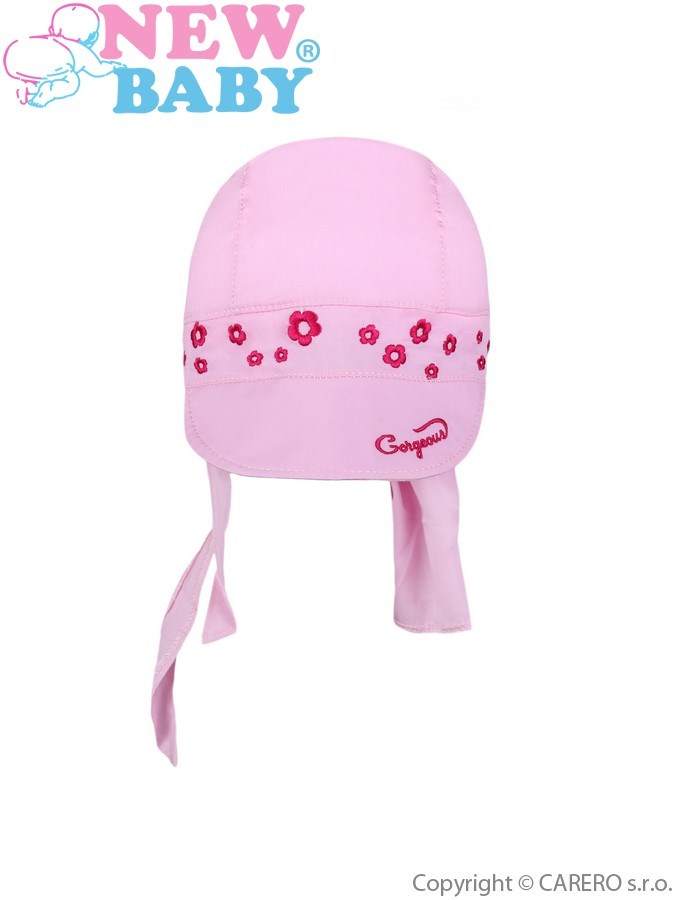 Letná detská čiapočka-šatka New Baby Gorgeous svetlo ružová