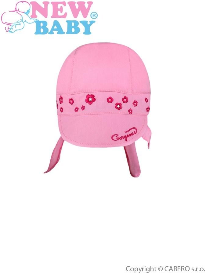 Letná detská čiapočka-šatka New Baby Gorgeous ružová