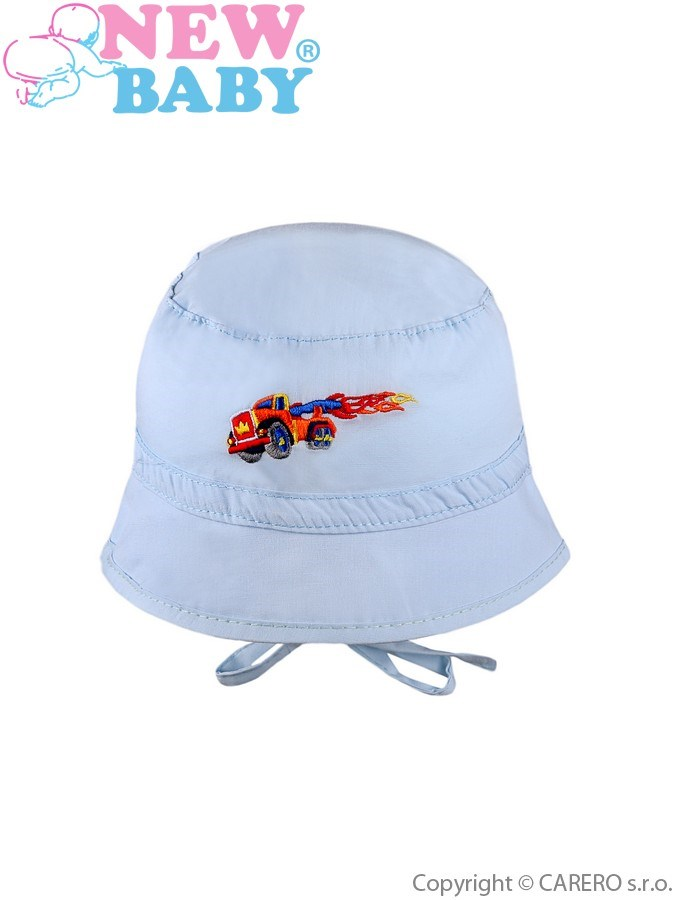 Letný detský klobúčik New Baby Truck svetlo modrý