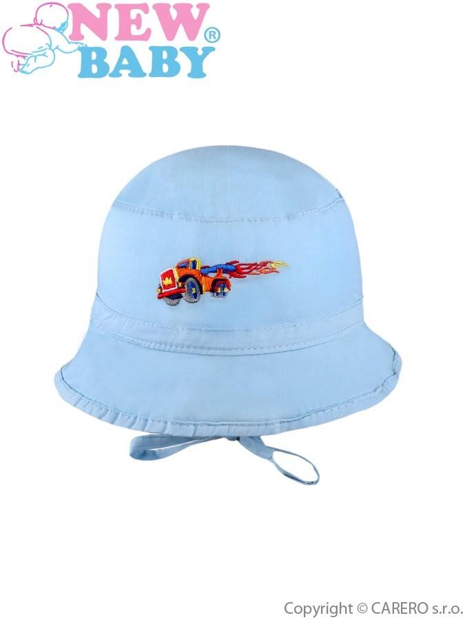 Letný detský klobúčik New Baby Truck modrý