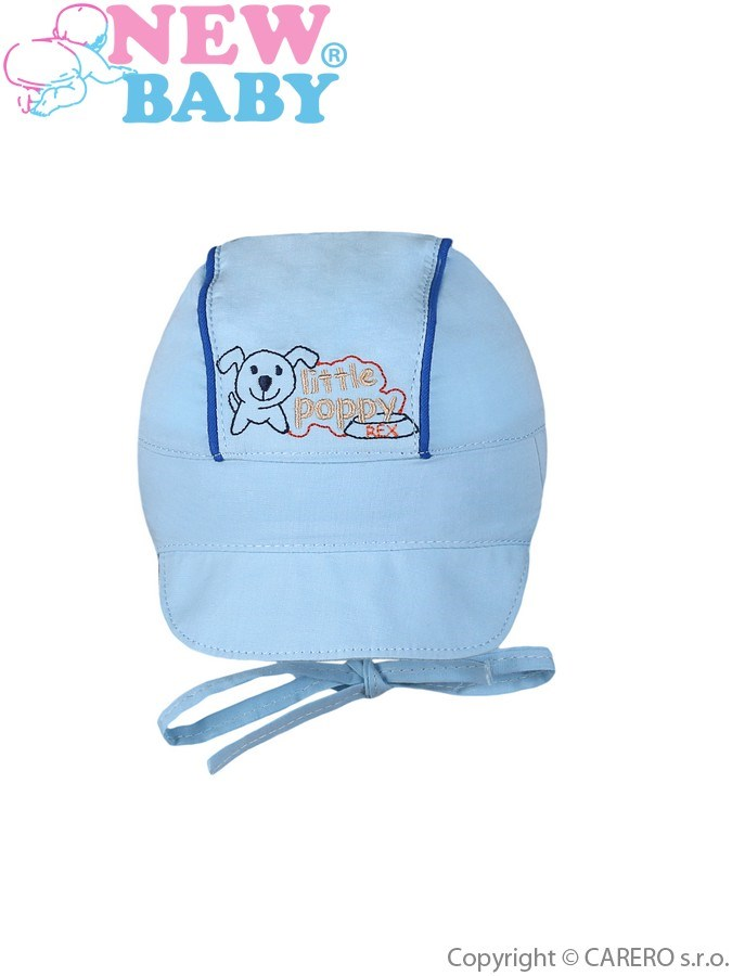 Letná detská čiapočka New Baby Little Poppy modrá