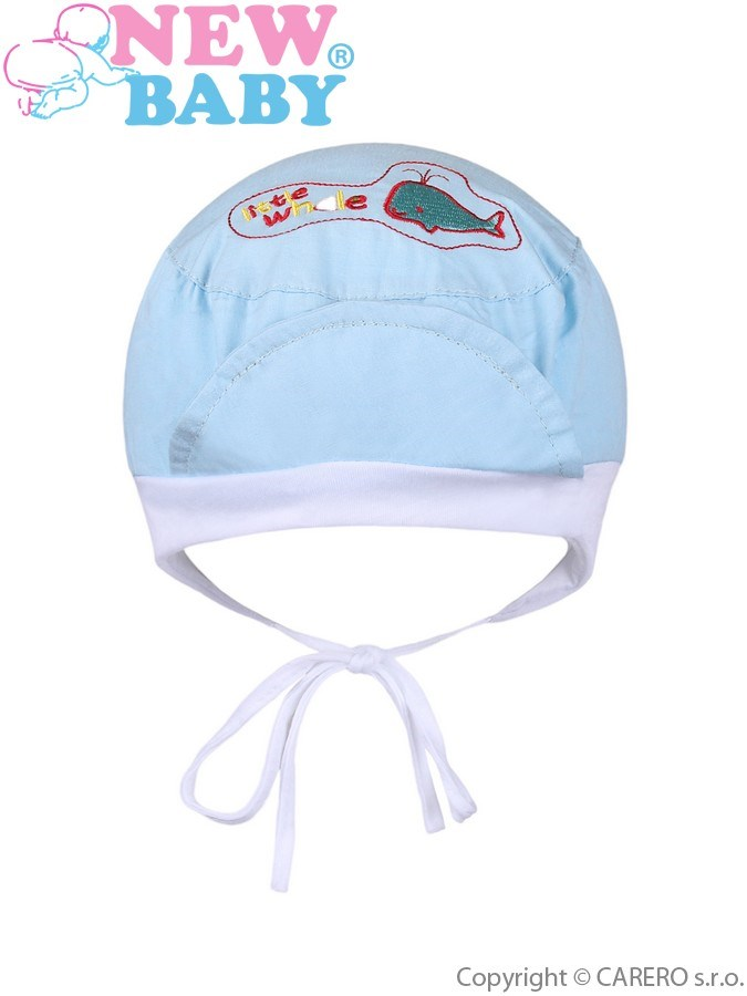 Letná detská čiapočka New Baby Little Whale modrá