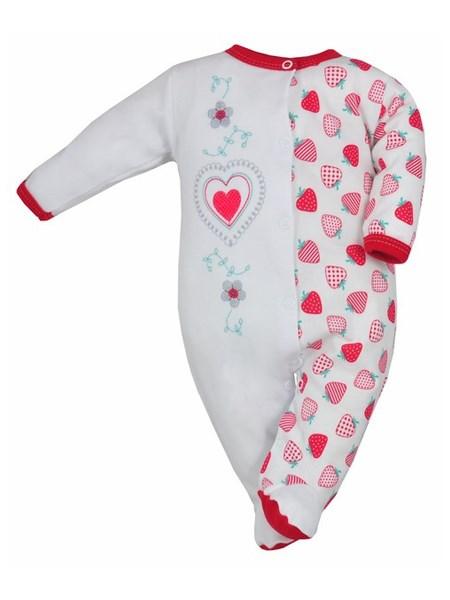 Dojčenský overal Bobas Fashion Beti II červený so srdiečkom