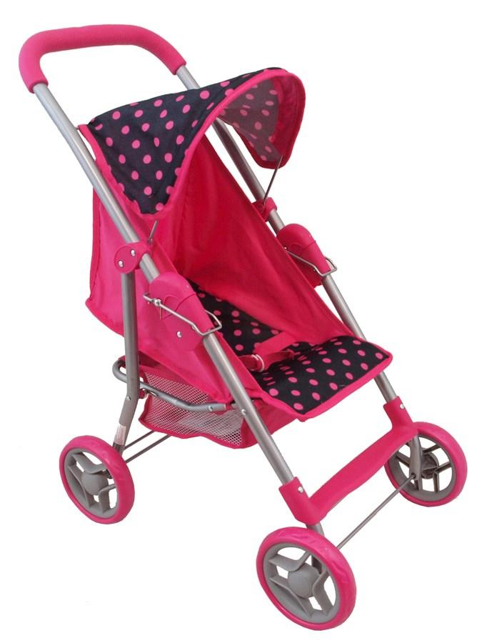 Športový kočík pre bábiky Baby Mix ružový