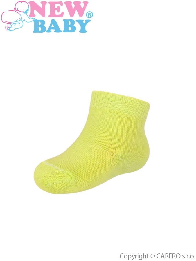Dojčenské bavlnené ponožky New Baby žlté