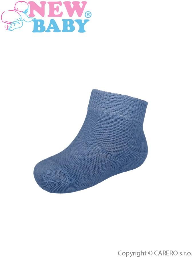 Dojčenské bavlnené ponožky New Baby  tmavo modré
