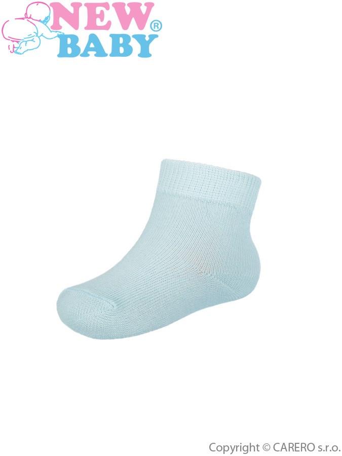 Dojčenské bavlnené ponožky New Baby svetlo modré