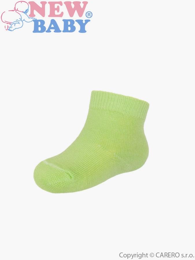 Dojčenské bavlnené ponožky New Baby svetlo zelené