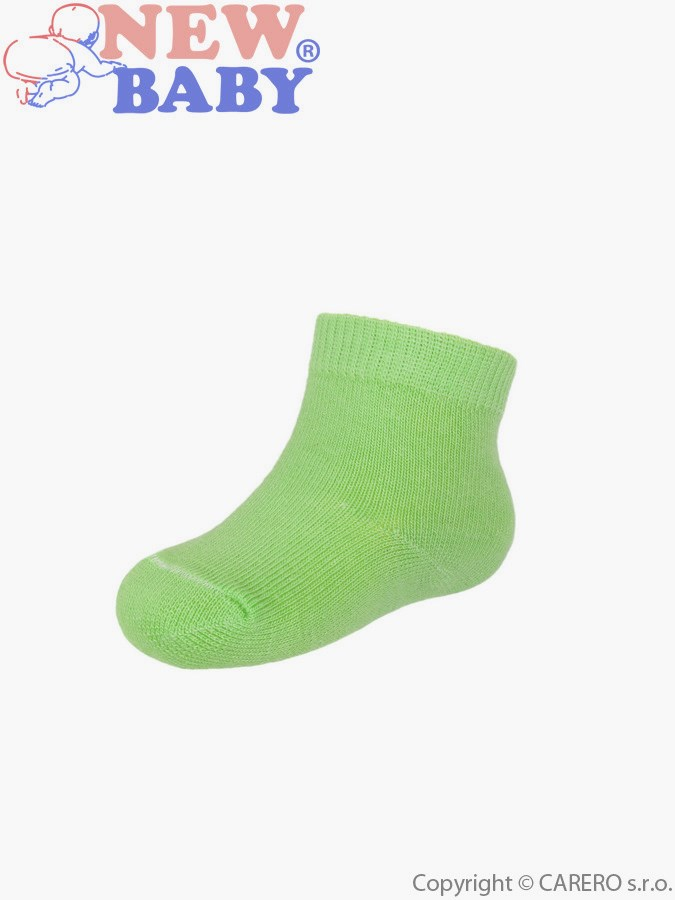 Dojčenské bavlnené ponožky New Baby tmavo zelené