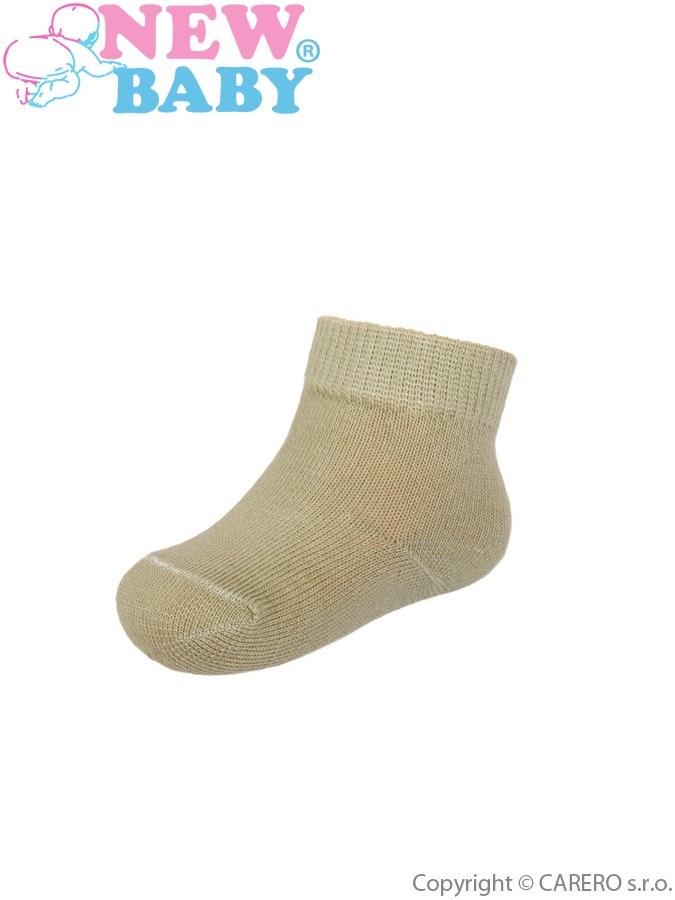 Dojčenské bavlnené ponožky New Baby zelené