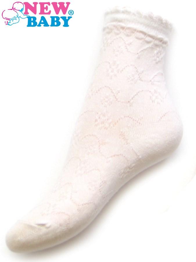 Detské žakárové ponožky New Baby biele