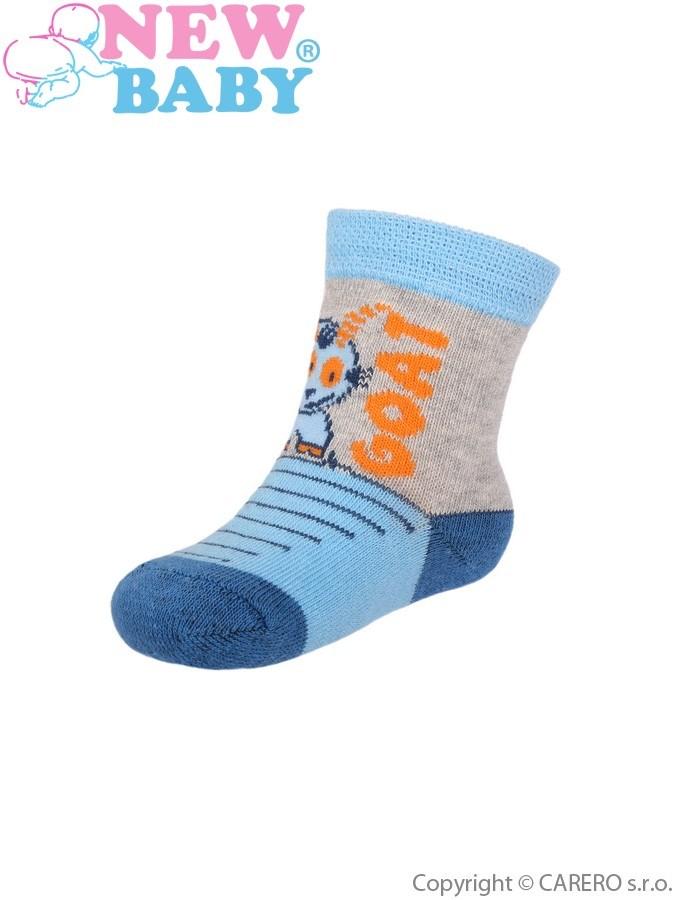 Dojčenské bavlnené ponožky New Baby modro-šedé baby goat