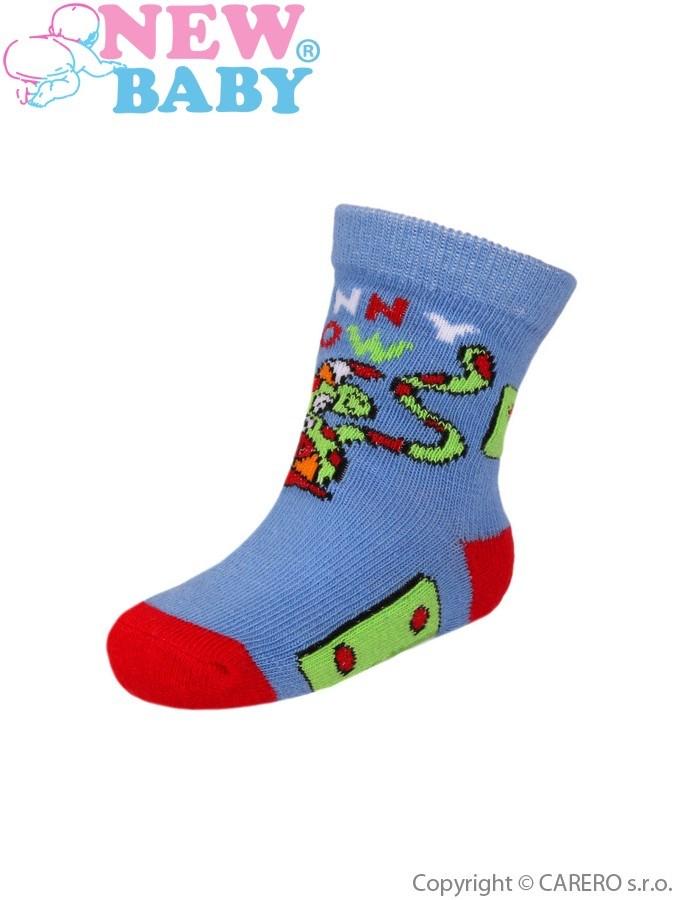 Dojčenské bavlnené ponožky New Baby pruhované s tigrom